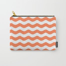 WAVES (CORAL & WHITE) Carry-All Pouch