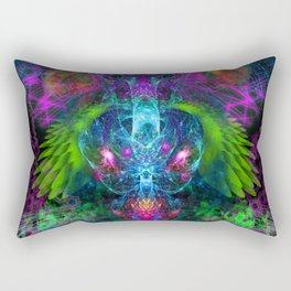 Evening Glory Vortex (totem, psychedelic, visionary) Rectangular Pillow