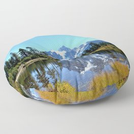 Mount Shuksan reflected on Picture Lake Floor Pillow