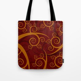 Red Swirl Pattern Tote Bag