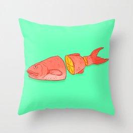 Citrus Sushi Throw Pillow