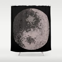 ying yang Shower Curtains featuring Ying Yang by Meg Gerena