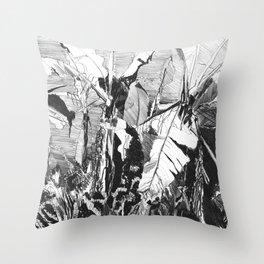 Banana grove Throw Pillow