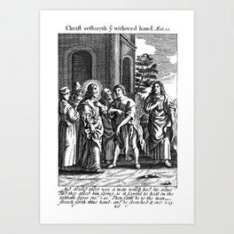 Jesus Heals Hands Art Print