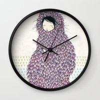 musa Wall Clocks featuring Musa by Belén Segarra