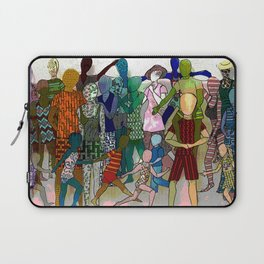 To the Beach by Lesley Nolan Laptop Sleeve