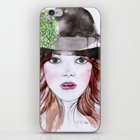 emma stone iPhone & iPod Skins featuring Emma Stone by Vicky Ink.