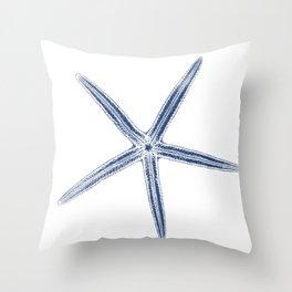 Finger Starfish Throw Pillow