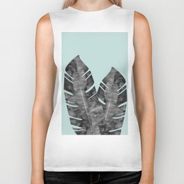 Composition tropical leaves XII Biker Tank