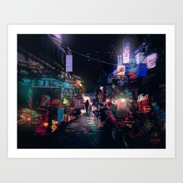 Blues of the Night Art Print