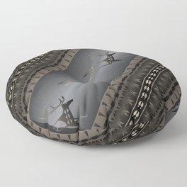 Elk Spirit (Gray) Floor Pillow