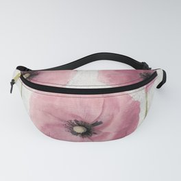 Pink Vintage Poppies II Fanny Pack
