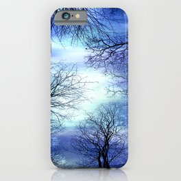 Midnight Trees Deep Blue Indigo iPhone Case