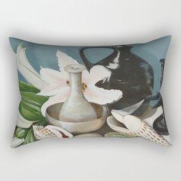 Kiwi fruit & Lillies Rectangular Pillow