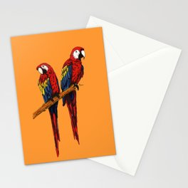 Loving Scarlet Macaws Stationery Cards