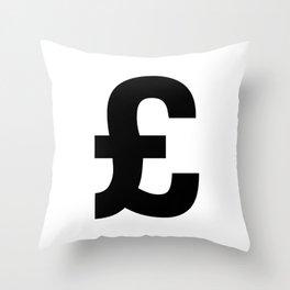 Pound Sign (Black & White) Throw Pillow