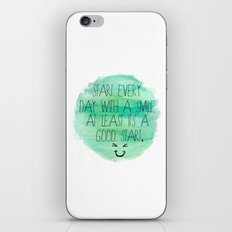 Start With a Smile iPhone & iPod Skin