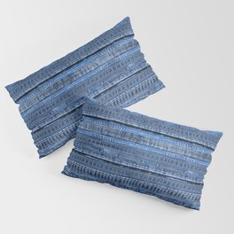 Cool Blue Jeans Denim Patchwork Design Pillow Sham