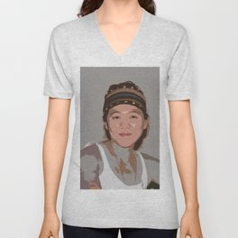 China Girl Unisex V-Neck