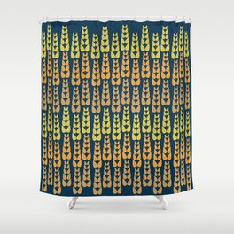 Yellow Corn Pattern Shower Curtain