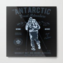 Antarctica Gift Idea Design Motif Metal Print
