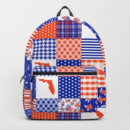 Florida University gators swamp life varsity team spirit college football quilted pattern gifts Backpack