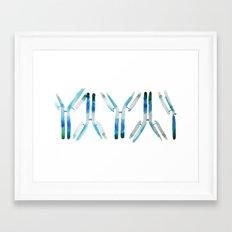 IgG Antibody, Science Art Framed Art Print