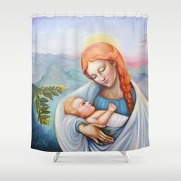 Maria and child. Madonna Shower Curtain