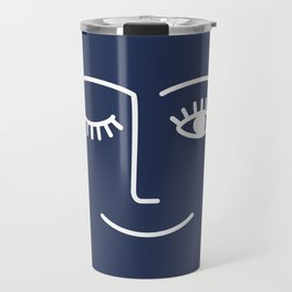 Wink / Navy Travel Mug