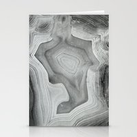 mineral Stationery Cards featuring MINERAL MONOCHROME by Catspaws