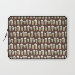 Coffee Cup Line Up in Expresso Brown Laptop Sleeve