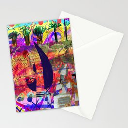 Cave painting with Egyptian Gods Stationery Cards