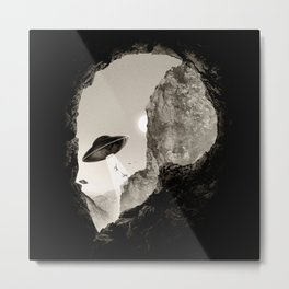 Alien´s Head Metal Print