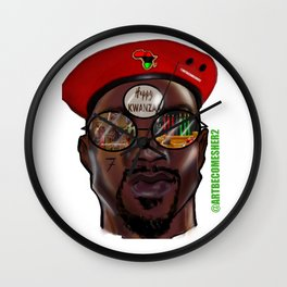 Kwanzaa King Version 2 Wall Clock
