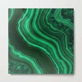 Malachite Texture 08 Metal Print