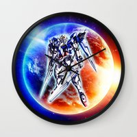 gundam Wall Clocks featuring Gundam Wing by bimorecreative