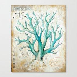 Blue Coral No. 2 Canvas Print
