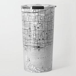 Vintage Map of Toronto (1906) BW Travel Mug