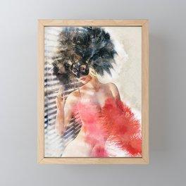 Painted Fan Dancer IV Framed Mini Art Print
