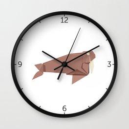 Origami Walrus Wall Clock