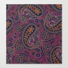 Meredith Paisley - Eggplant Purple Canvas Print