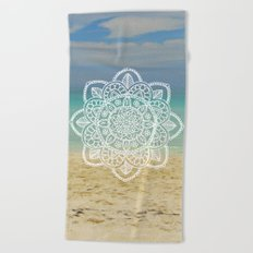 Beach Mandala Beach Towel