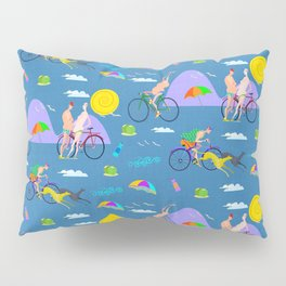 Old people at the beach Pillow Sham