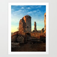 The ruins of Waxenberg castle | architectural photography Art Print
