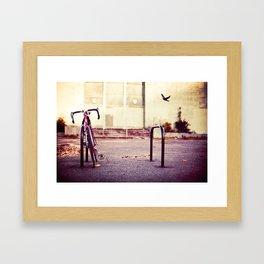 Abandoned bike Framed Art Print