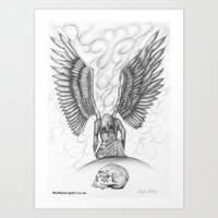 Angels Still Cry Art Print