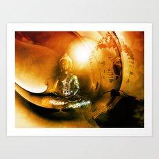 Buddha Collage 4 Art Print