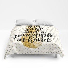 Sun, Sand & Pineapple Comforters