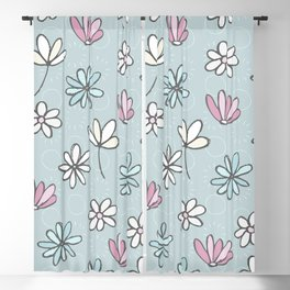Cute Floral Ditsy Pattern Blackout Curtain