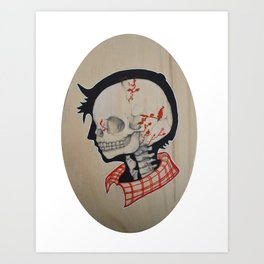 Boy Next Door - Silhouette and Anatomy Love Painting Art Print